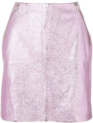 Karl Lagerfeld X Kaia Leather Skirt