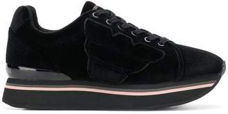 Emporio Armani velvet platform low-top sneakers