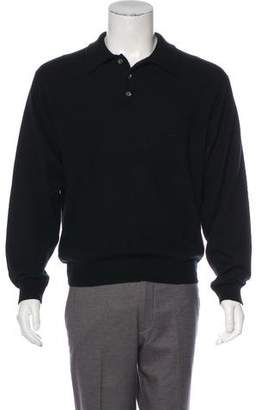 Barneys New York Barney's New York Cashmere Polo Sweater