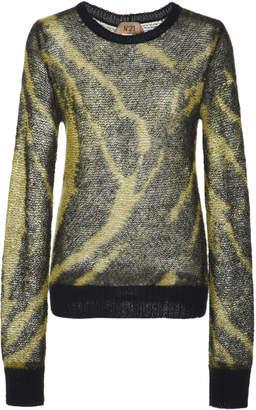 N°21 N 21 Norma Mohair-Blend Printed Sweater