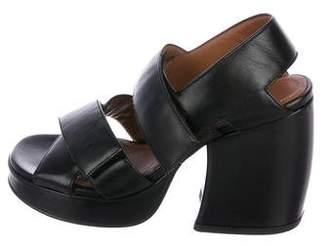 Kenzo Leather High-Heel Sandals