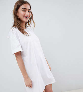 Asos DESIGN Petite ultimate t-shirt dress with rolled sleeves