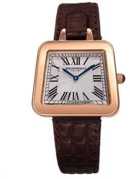 Bruno Magli Emma Swiss Quartz Leather Strap Analog Watch