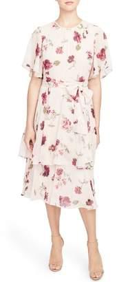 Rachel Roy COLLECTION Floral Tie Waist Dress