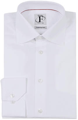 Finollo Made In Italy Finollo Solid Buttoned Dress Shirt