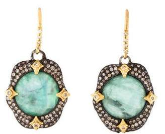 Armenta Mother of Pearl, Emerald & Diamond Crivelli Drop Earrings