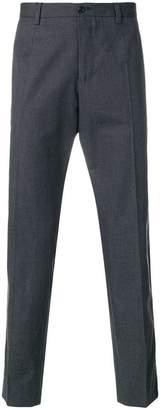 Dolce & Gabbana leopard print stripe tailored trousers