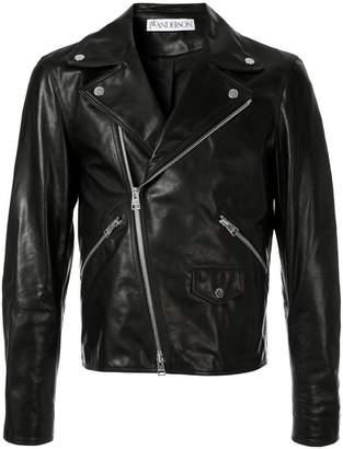 men's Gilbert & George leather biker jacket