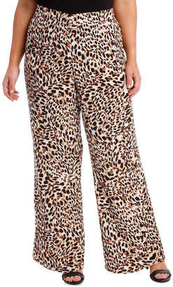 Pant Printed Flat Front with Elastic waist