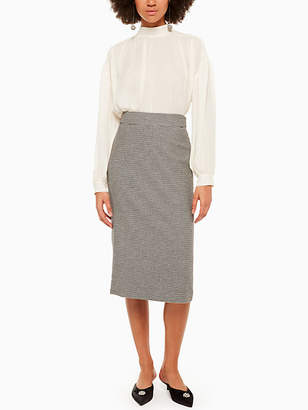Kate Spade Houndstooth wool pencil skirt