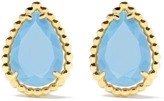 Boucheron 18kt yellow gold Serpent Bohème turquoise teardrop stud earrings