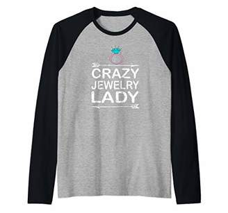 Crazy Jewelry Lady Raglan Baseball Tee