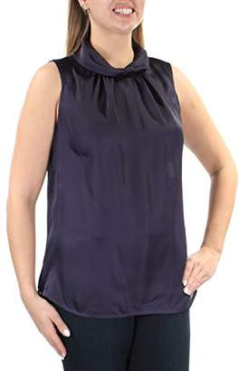 Anne Klein Women's Twist Collar Shell