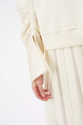 3.1 Phillip Lim Gathered-Sleeve Pullover