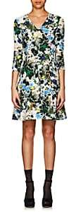 Erdem Women's Domitilla Floral Fit & Flare Dress-White, Blue