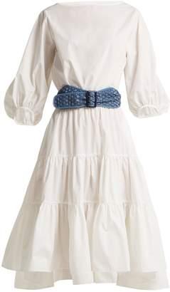 Binetti LOVE Boat-neck cotton dress