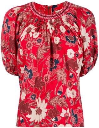 Ulla Johnson floral blouse