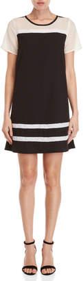 Yumi Black & White Lace Tunic Dress