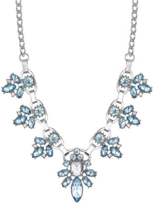 1928 Blue Stone Cluster Necklace