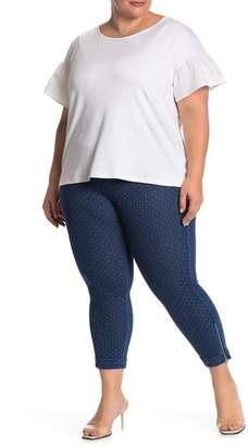 Lysse Denim Stripe Crop Pants (Plus Size)