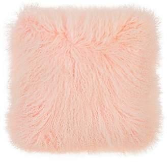 Adrienne Landau Mongolian Lamb Fur Pillow