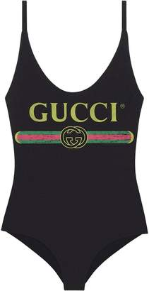 Gucci Sparkling swimsuit with logo