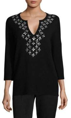 Michael Kors Embellished Cashmere Top