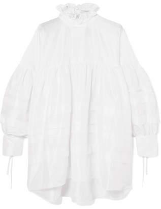Cecilie Bahnsen - Alberte Oversized Bow-detailed Poplin Shirt Dress - White