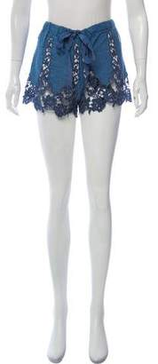 Miguelina Embroidered Lace Mini Shorts w/ Tags