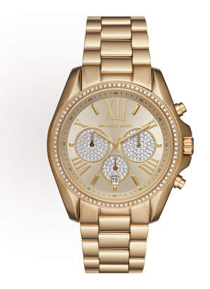 MICHAEL Michael Kors 43mm Bradshaw Chronograph Bracelet Watch, Golden