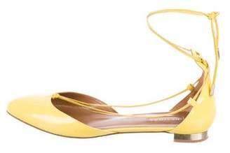 Aquazzura Patent Leather Round-Toe Flats