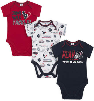 Gerber Houston Texans 3 Pack Creeper Set, Infants (0-9 Months)