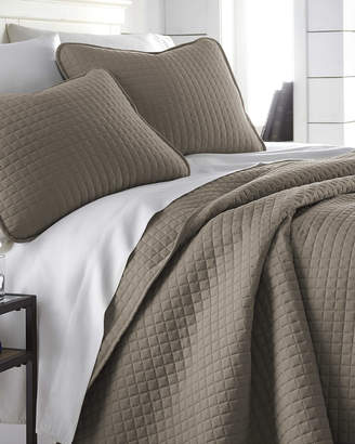 South Shore Linens Oversized Geometric Easy Care Quilt Set
