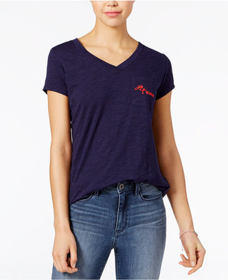 Maison Jules Oh La La Embroidered T-Shirt, Only at Macy's $29.50 thestylecure.com