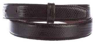 Kieselstein-Cord Barry Lizard Belt Strap