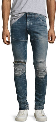 G-Star 5620 Elwood 3D Super-Slim Zip Jeans, Gavi (Blue) $210 thestylecure.com