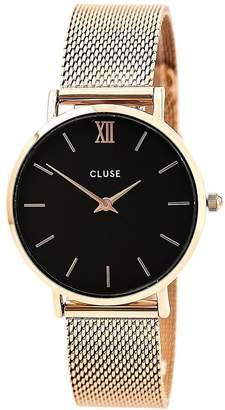 Cluse Women's Minuit 33mm Steel Bracelet Metal Case Quartz Watch CL30016
