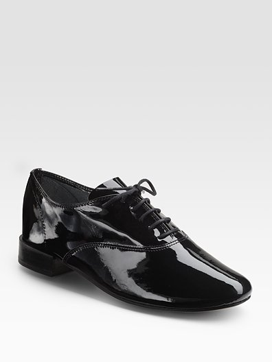 Repetto Zizi Femme Patent Leather Lace-Up Flats