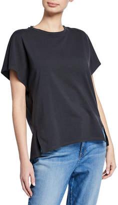 Eileen Fisher Short-Sleeve Stretch Jersey Box Top