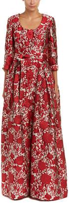 Carolina Herrera Silk-Blend Gown