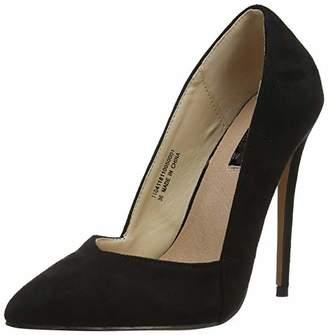 97ced49e7cf Lost Ink Women s Alexa Low Cut Court (Wide Fit) Closed Toe Heels