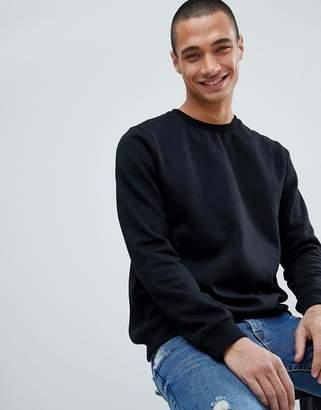 New Look Sweatshirt With Crew Neck In Black