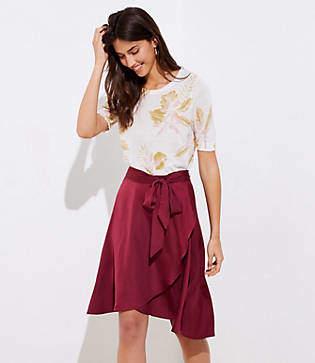 LOFT Tie Waist Wrap Skirt