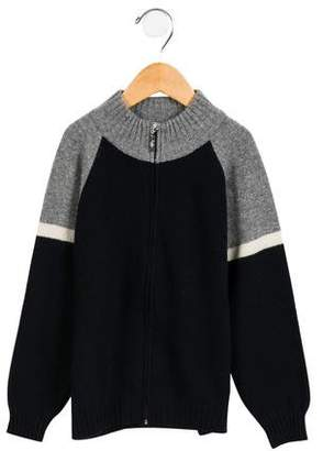 Il Gufo Boys' Wool Colorblock Cardigan