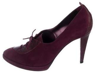 Sergio Rossi Suede Pointed-Toe Booties