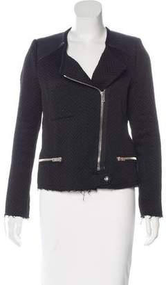 IRO Leather-Trimmed Tweed Jacket