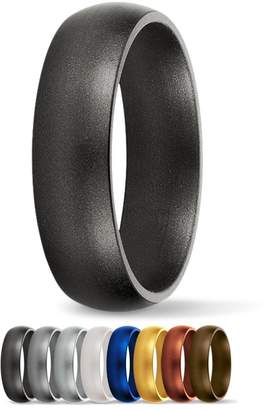 SafeRingz Metallic Silicone Wedding Ring Made in the USA