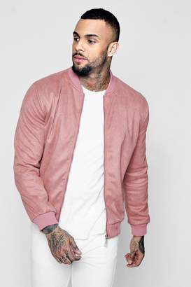 boohoo Faux Suede Bomber Jacket