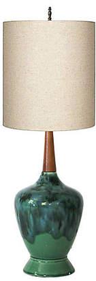 One Kings Lane Vintage Drip Glaze Lamp - I Dream in Vintage