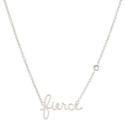 SHY BY SE Sterling Silver Diamond 'Fierce' Pendant Necklace - 0.015 ctw